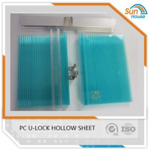 Colored PC Connector U-Lock Multiwall Hollow Sheet