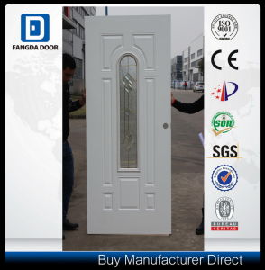 Fangda Exterior Glass Prehung Steel Door pictures & photos