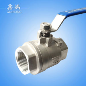 304 Stainless Steel 2PC Ball Valve Dn15 MID Type pictures & photos