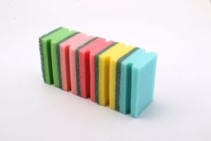 Hot Sales Hot Quality Colorful Nylon Pot Sponge in Colorful pictures & photos