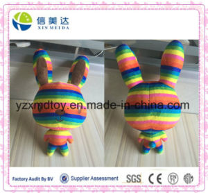 Colorful Rainbow Happy Plush Rabbit Stuffed Toy Baby Doll pictures & photos