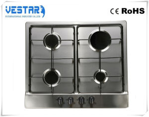 Kitchen Appliance Stainless Steel 4 Burner Gas Hob pictures & photos