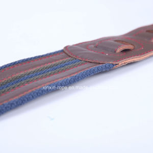 High Quality Exqusite Weaving Real Leather Cotton Belt for Guitar pictures & photos