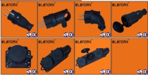 Elendax Industrial European Plug Rubber Socket /Russian Socket (P6051) pictures & photos