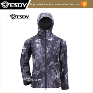 Black Python Camo Hunting Camping Ski Wind Waterproof Coat Jacket pictures & photos