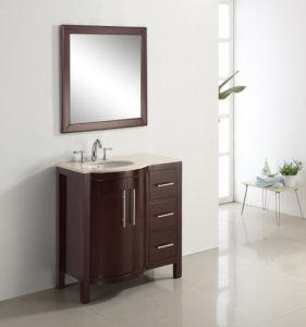 Foor Mounted Solid Oak Wood Bathroom Cabinet pictures & photos