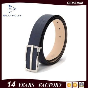 Custom Logo Buckle Genuine Leather Men′s Waist Belt pictures & photos