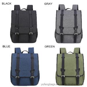 15.6 Inch Waterproof Laptop Flap Travel Backpacks Double Shoulders School Bags pictures & photos