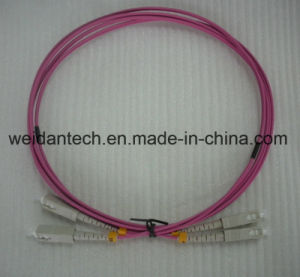 Om4 LC-LC Multimode Duplex 10g Fiber Optic Patch Cord pictures & photos