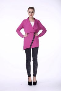 Latest Designs Woolen 100% Cotton Ladies Hooded Coat Jacket Women′s Coat pictures & photos