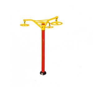 Triple Overhung Rotating Wheel Outdoor Gym Equipment pictures & photos