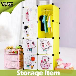 Modern Eco-Friendly Organizer System Kids Plastic Wardrobe Design pictures & photos