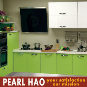 Simple Green House Acrylic Wood Kitchen Cabinet pictures & photos