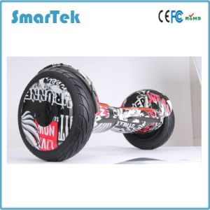 Smartek 2017 10.5′′ Inch Zebra Cross-Country Scooter Hoverboard Smart Balance Wheel Monility Scooter with Bluetooth for Outdoor Sport S-002-1 pictures & photos