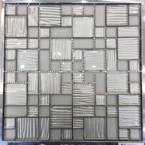 White Color Glass Mosaic for Shopping Mall Wall (M855059) pictures & photos