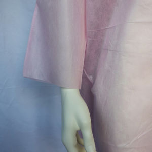 Pink SMS Isolation Gown with Open Sleeves pictures & photos
