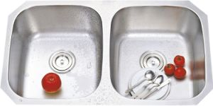8247 Stainless Steel Stretching Double Bowl Sink pictures & photos