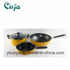 Kitchenware Carbon Steel Non-Stick Chinese Cookware Set pictures & photos
