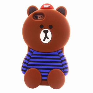3D Cartoon Crossbar Bear Silicon Case for iPhone 7 7plus Cute Soft J5 J7 J710 (XSDW-090)