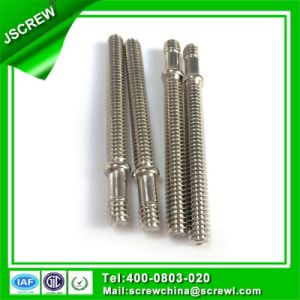 Nickel Plated 1/4*68 Customized Double Head Special Screw pictures & photos
