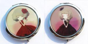 Souvenir Customized Round Epoxy Portable Cosmetic Pocket Mirror pictures & photos