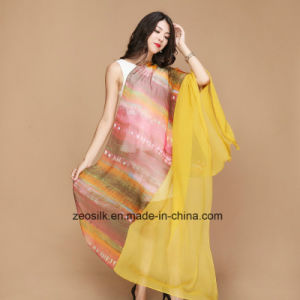 Wholesale Lady Silk Long Fashion Scarf pictures & photos