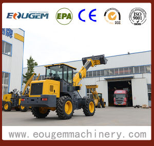 Eougem Telescopic Boom Wheel Loader T2000 with Pallet Fork pictures & photos