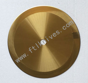 Tin Coating Big Machine Circular Blade Golden Knife pictures & photos