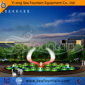 Round Shape Color Changing Music Fountain in Water Pool pictures & photos