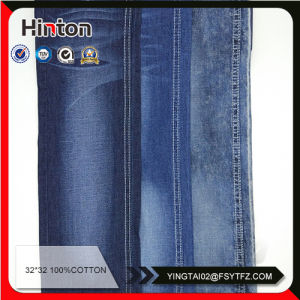 Thin Cotton Plain Denim Fabric for Summer and Spring pictures & photos