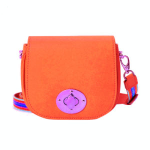 Twist Lock Teen Girl′s Shoulder Bags Kids Satchel Bag