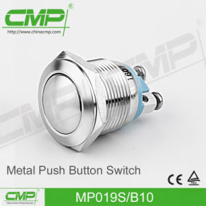 19mm Stainless Steel Push Button Switch with Screw Terminal pictures & photos