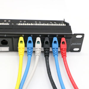 Unshielded Patch Panel Fluke Test in 24-Ports with Back Bar CAT6 UTP pictures & photos
