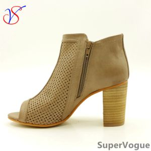 Two Color Sex Fashion High Heeled Women Lady Sandals Shoes for Socially Business Sv17s001-01-Tan pictures & photos