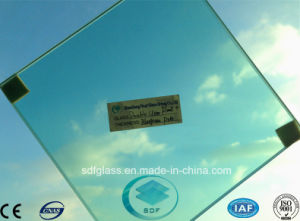 Double Clear Float+Bluegreen PVB Laminated Glass with CE, ISO pictures & photos