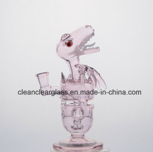 Pink Fab Dino Rig Glass Smoking Pipe Water Pipe with Showerhead Perc pictures & photos