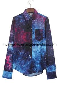 Nebula Galaxy Print Blouse (MWNGP13020)