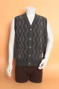 Yak Wool /Cashmere V Neck Cardigan Waistcoat/Garment/Clothing/Knitwear pictures & photos