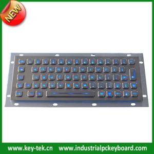 IP65 Dynamic Vandal Proof Stainless Steel Industrial Waterproof Keyboard (K-TEK-A272-BL)
