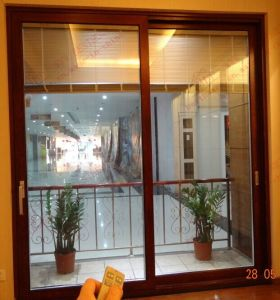 Electrical Aluminium Sliding Door with Built-in Blinds (BHA-DS23) pictures & photos