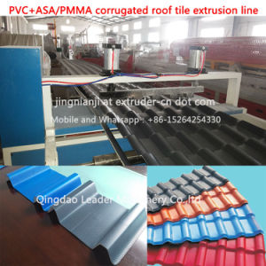 PVC+PMMA/ASA Corragted Spanish Roofing Sheet Making Machine pictures & photos