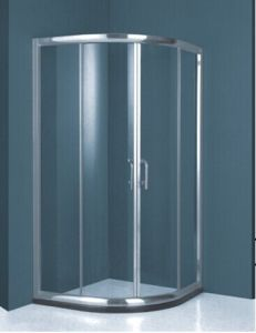 High Quality Australian Standard Tempered Clear Glass Simple Shower Cubicle with Stainless Steel Fram (H002C) pictures & photos