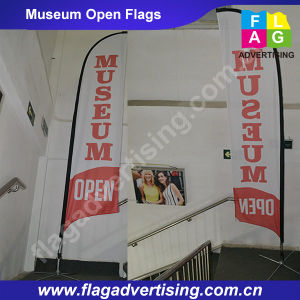 Custom Outdoor Polyester Feather Beach Banner with Fiberglass Pole pictures & photos