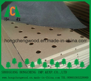 Grooved Melmaine MDF Board/Slotted Melamnine MDF Board pictures & photos