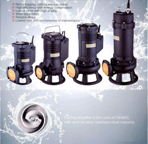 Non-Clogging Cutting Submersible Sewage Grinder Pump pictures & photos