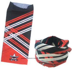Custom Made Design Printed Elastic Microfiber Promotional Sports Tubular Buff Headband pictures & photos