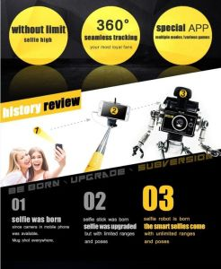 Bluetooth Selfie Smart Robot Camera Holder Auto Face Tracking Video Recorder 360 Degree Rotate pictures & photos