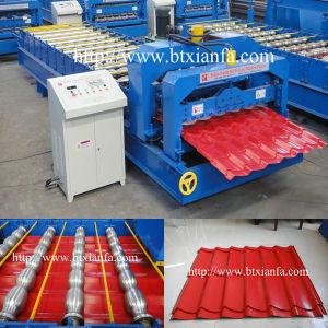 PPGI Glazed Steel Roof Tile Roll Forming Machine (XF25-183-1100)