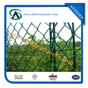 Cheap Garden Used Galvanized and PVC Chain Link Fence pictures & photos