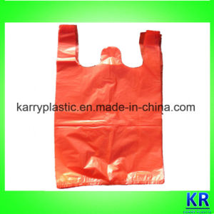 Plastic Sack T-Shirt Bags for Shopping pictures & photos
